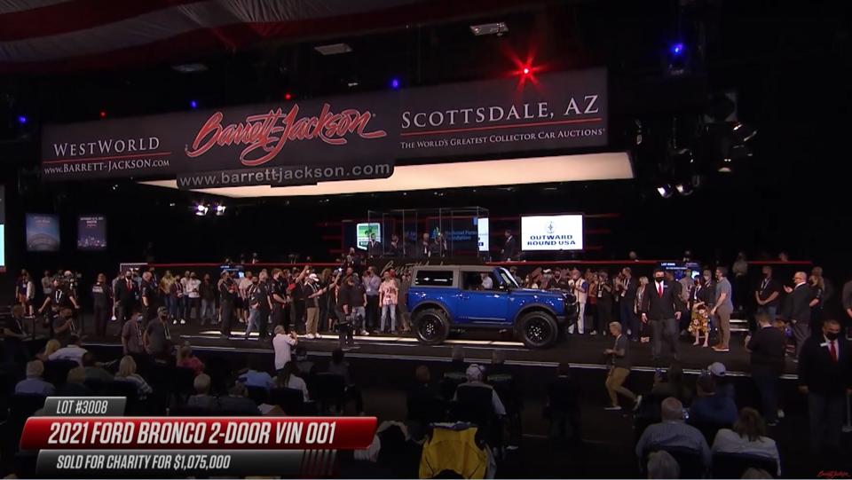 Novo Ford Bronco foi leilado por US$ 1.075.000