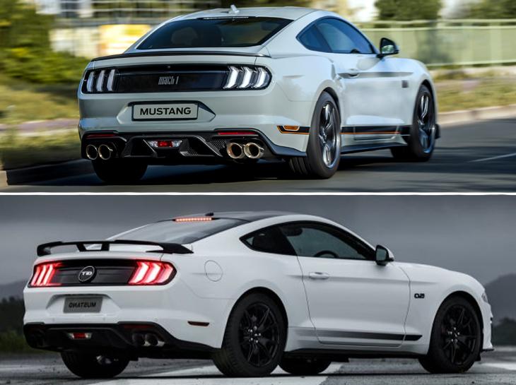 Mustang Mach1 Vs Black Shadow Traseira