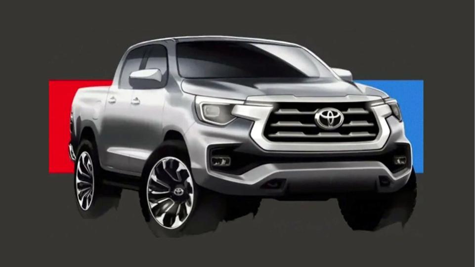 Nova Toyota Hilux projeção