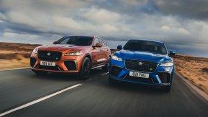 Jaguar F Pace Svr Atacama Orange & Velocity Blue
