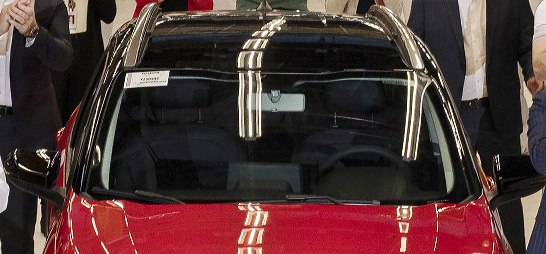 Detalhe da central multimídia do Fiat Pulse