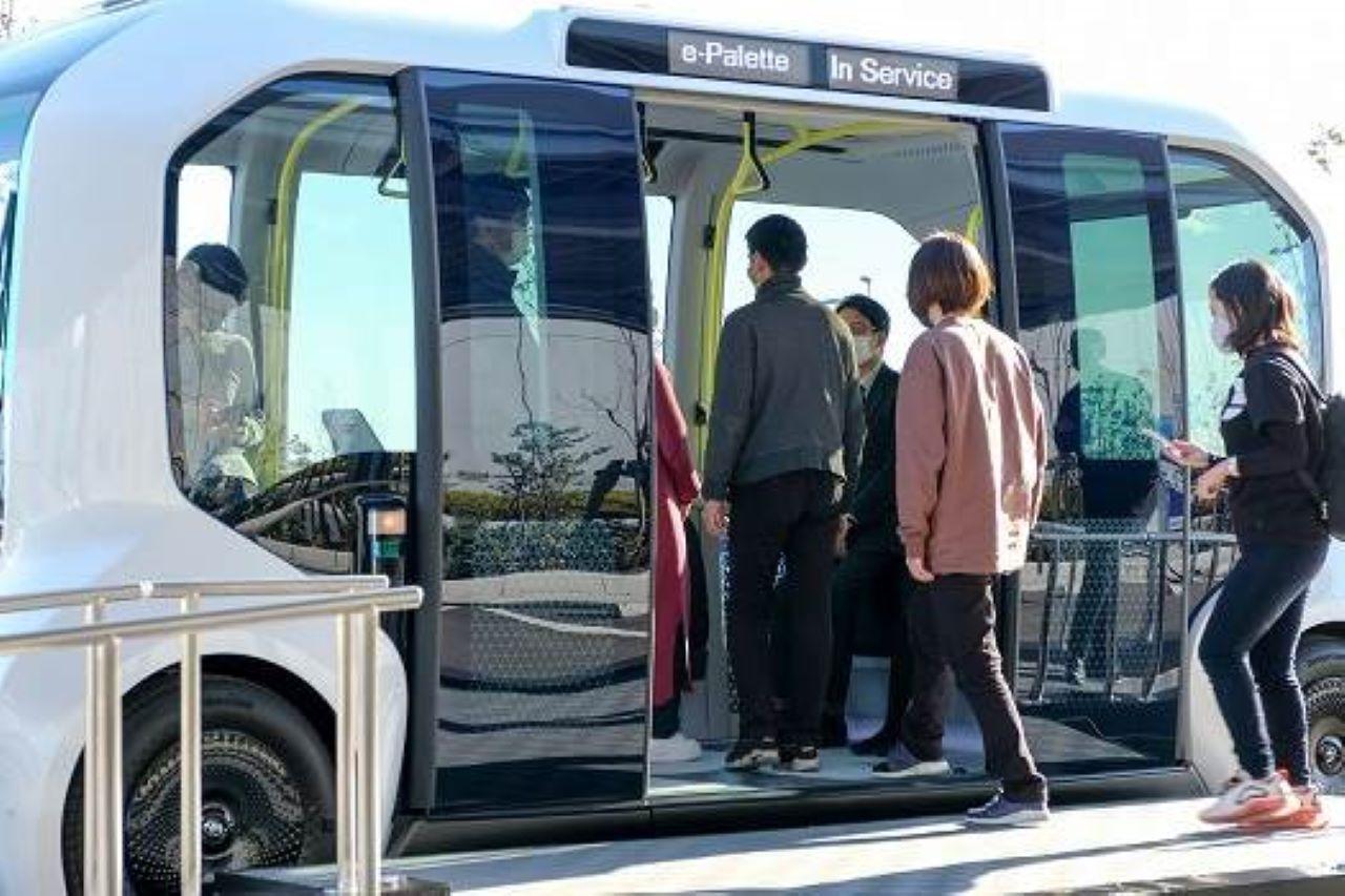 Toyota e-Palette - micro-ônibus autônomo das Olimpíadas de Tóquio