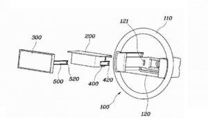 Patente registrada na Alemanha mostra que o airbag ficaria trás da tela no volante